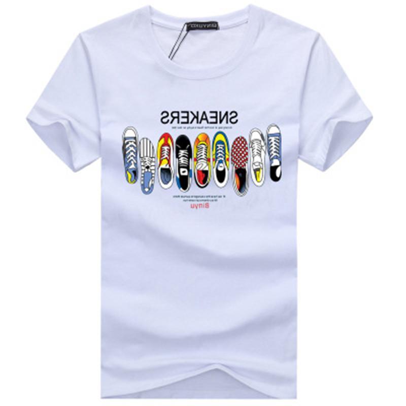 Desenhador Mens T Top Qualidade de Moda de Nova Maré Sapatos T-shirt Impresso T-shirt Tops Homens T-shirt múltiplo selecionável Cor