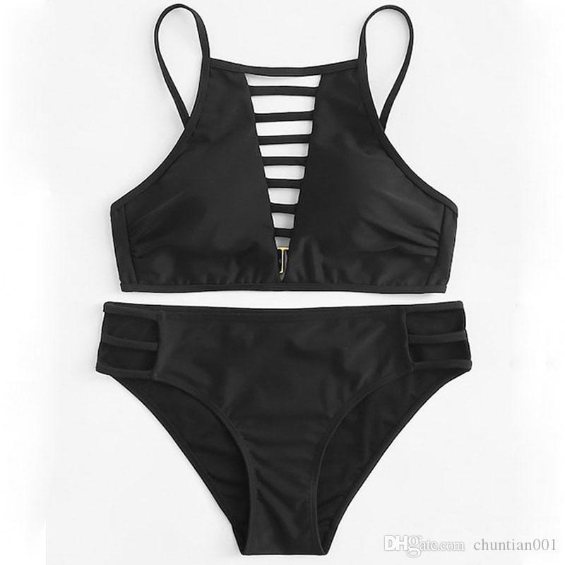 Biancheria intima del bikini bikini delle donne sexy dello Swimwear delle donne del commercio all'ingrosso per Swimming Set benda Push-Up imbottito di bagno dello Swimwear Beachwear
