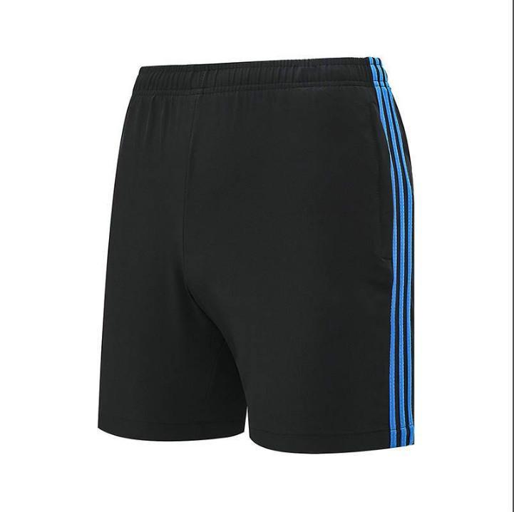 Calções de mulher de Verão Calças Novas da marca europeia e americana tide listras cintura elástica das mulheres calções de Moda Desporto-3