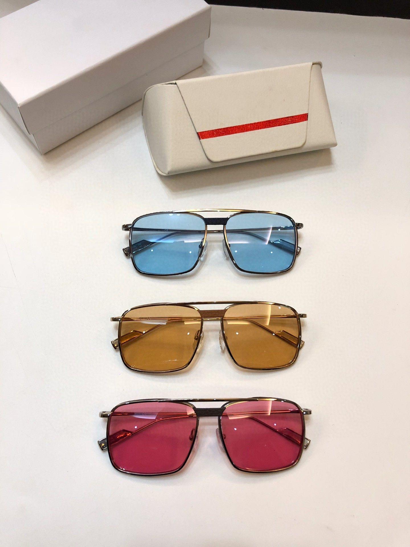 Luxus-Sonnenbrille Mens-Sonnenbrille Frauen klassische heiße Art Planke Metallrahmen 221 uv400 Schutz im Freien eyewear Top-Qualität mit