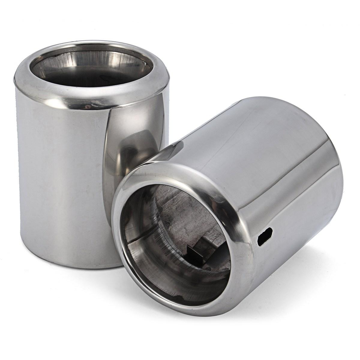 S.Steel EXHAUST MUFFLER CHROME TRIM TIP PIPE For Mazda 6 2014 2015 2016