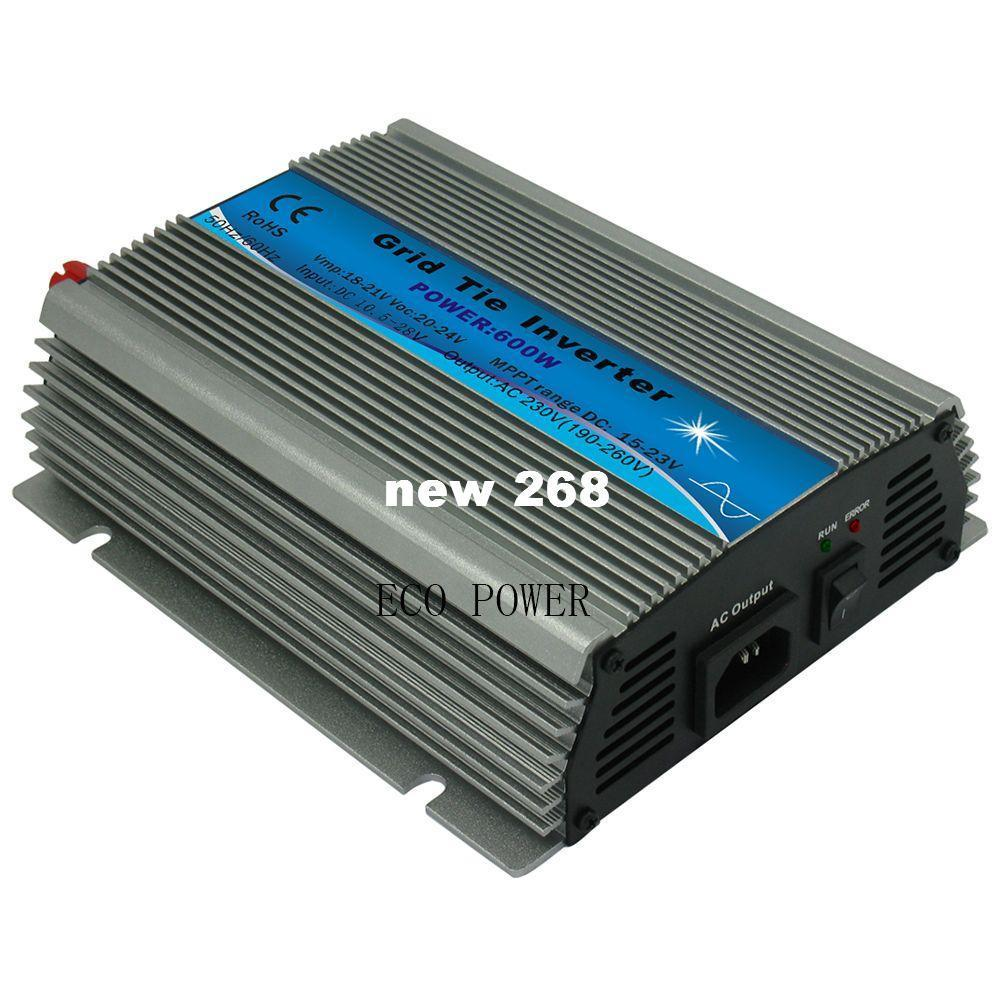 Freeshipping 600W 18V Grid Tie Micro Inverter 10.5-28V DC to AC 190-260V 600watt On Grid Tie Inverter for 18V PV module
