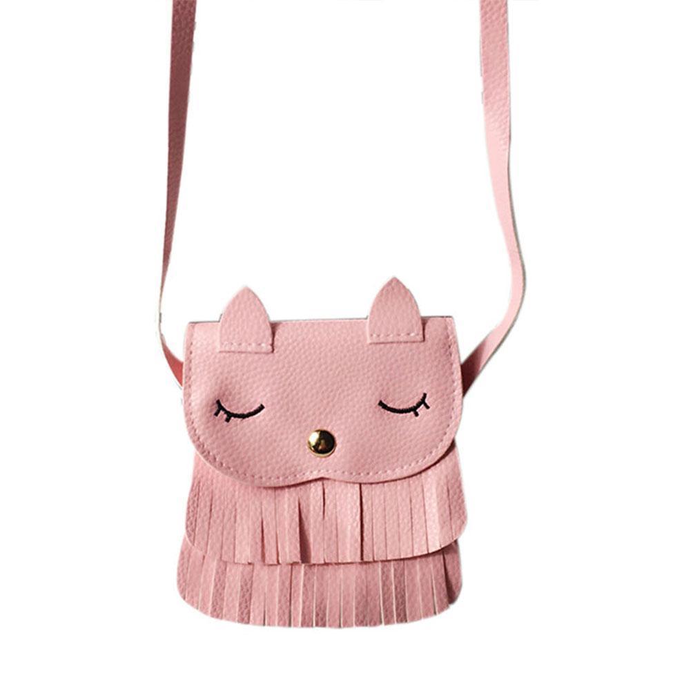 Women Shoulder Bags Cute Lovely Cat Crossbody Bags PU Leather Messenger Satchel Bag Tassel Tote Purse for Ladies Girls