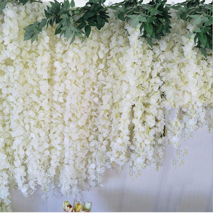 3 Modeller Ipek Yapay Çiçek Bitkileri Wisteria Çiçek Dize Ortanca Vine Düğün Töreni Dekor Ev Bahçe / Parti Süslemeleri