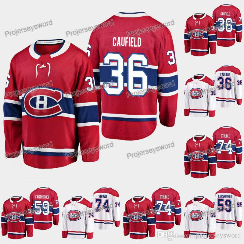 2019 Draft Montreal Canadiens Jersey 35 Cole Cole Cufield 59 Gianni FairBrother 74 Jayden StruBle 6 Shea Weber 31 Carey Preço Hóquei Jerseys