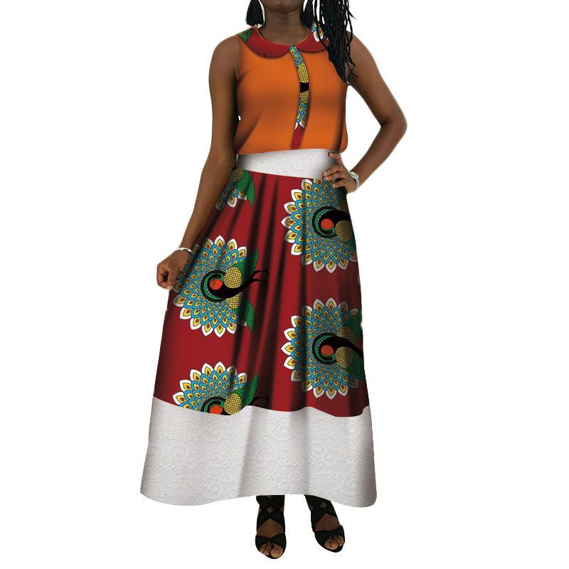 Conjuntos de duas peças de roupa das mulheres verão novo estilo bazin elegante mulheres define dashiki elegent tradicional africano clothing wy4100