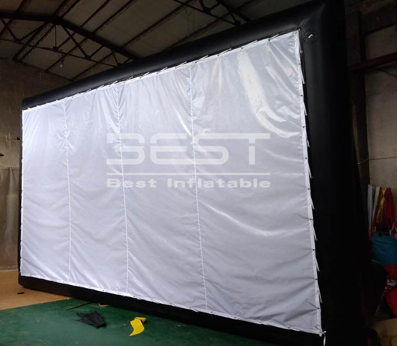 سعر المصنع أفضل جودة عالية 4M نفخ ضربة جوية شاشة السينما المحمولة شاشات السينما نفخ العارض / قابل للنفخ شاشة السينما