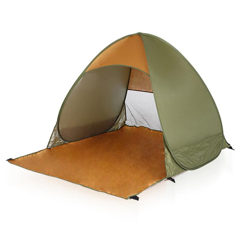 Tragbare Strand Shelter Pop Up Zelt wasserdicht winddicht Folding Opaque Silber Band Tent Gartenmöbel Angeln Shelter