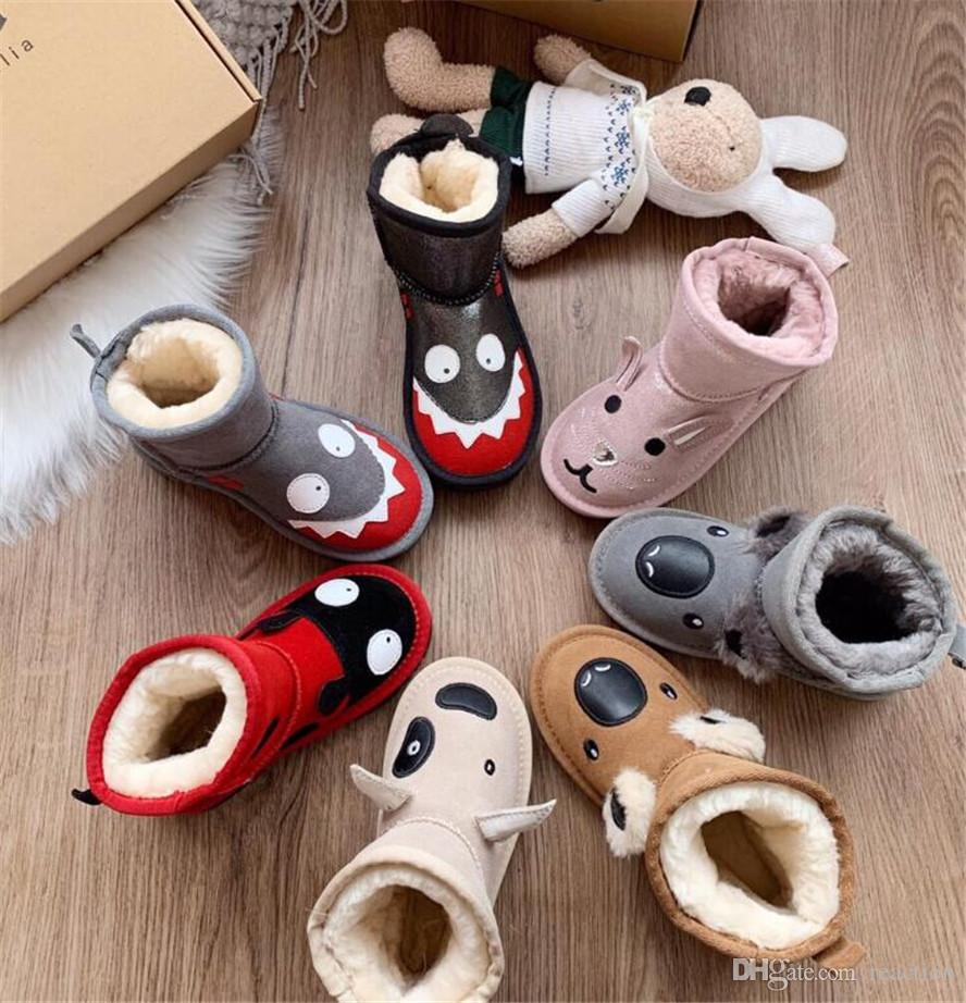 Baby Kids Boy Girl Winter Booties Slippers Anti-slip Snow Boots Infant Shoes UK