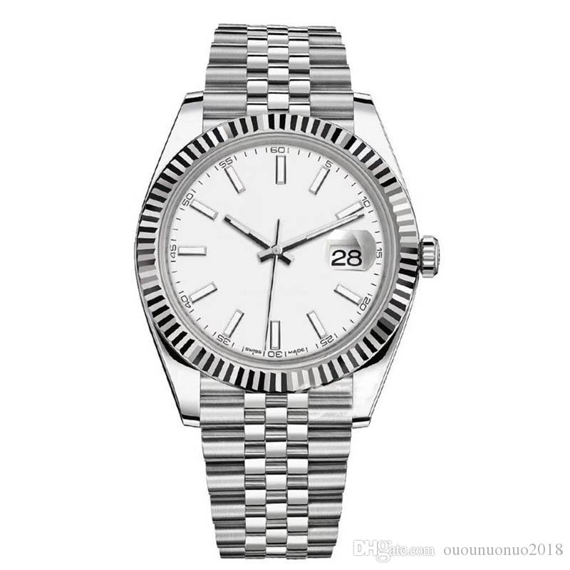 ROLEX 럭셔리 시계 41mm DATEJUST 남자 기계 자동 디자이너 시계 스테인레스 스틸 비즈니스 패션 마스터 대통령 남성 손목 시계