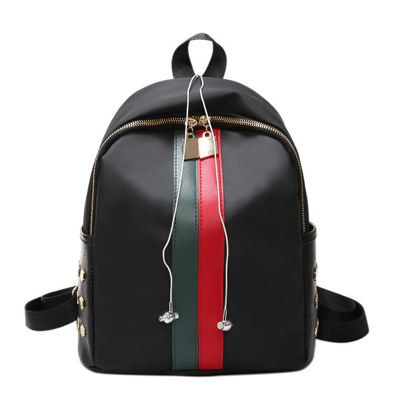 Lucky2019 Oxford Woman Cloth Both Shoulders Joker Red Green Bar Women's Bag Leisure Time Package