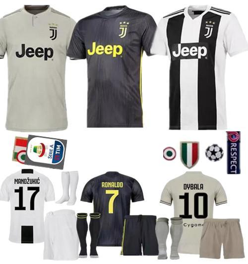 finest selection d5bde fd3da 2019 2018 2019 Best Quality Juventus Juve Jersey Kit Full Sets + Socks  HIGUAIN DYBALA Ronaldo Soccer Jerseys Home Football Shirts From Jacket2019,  ...