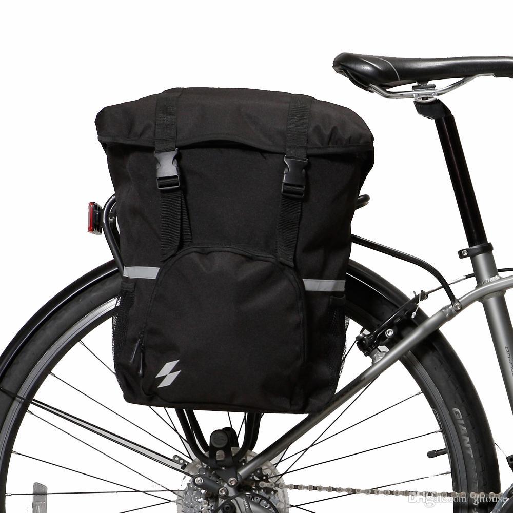 Sacos Pannier para BikeLa bicicletta di borsa Tronco Tronco Assento Da Bicicleta Saco de Alforje Rack de Lona Panniers Bolsa 15L Grande Capacidade de Bolso Da Bicicleta
