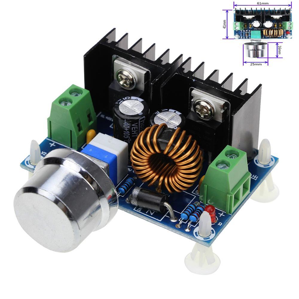 힙 모터 컨트롤러 PWM 조정 4-40V으로 1.25-36V 스텝 다운 보드 모듈 최대 8A 200W DC-DC 스텝 다운 벅 컨버터 전원 공급 장치 XL4 ...