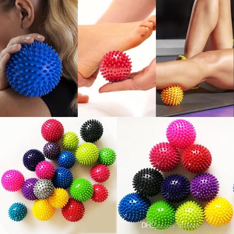 7.5 cm 9.5 cm Masaj Topu Ağrı Stres Giderici Tetik Nokta Terapi Kas Düğüm Spor Yoga Lacrosse Topları için Hokeyi Topu