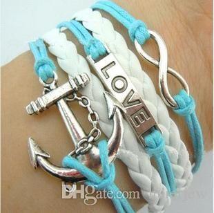 Charm-Armband-Armbänder Straps umwickeln Armband personalisierte Liebe-Leder-Armbänder Schön Pulseras Endless Infinity-Armbänder