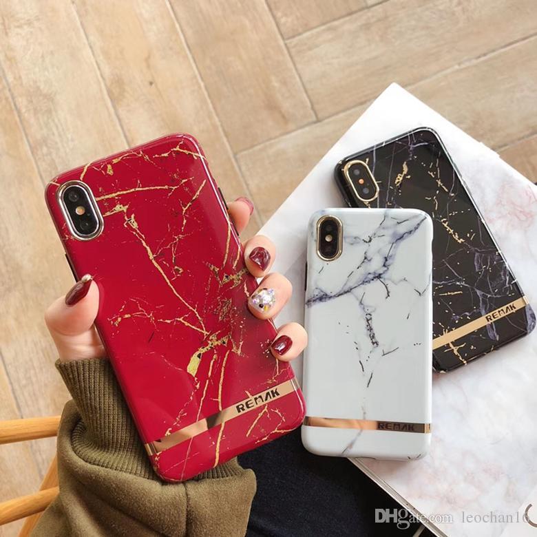Покрытие мраморная кожа печати задняя крышка чехол печатный письмо нерегулярные шаблон телефон оболочки стильный для iPhone XS Max XR 6s 7 8 Plus