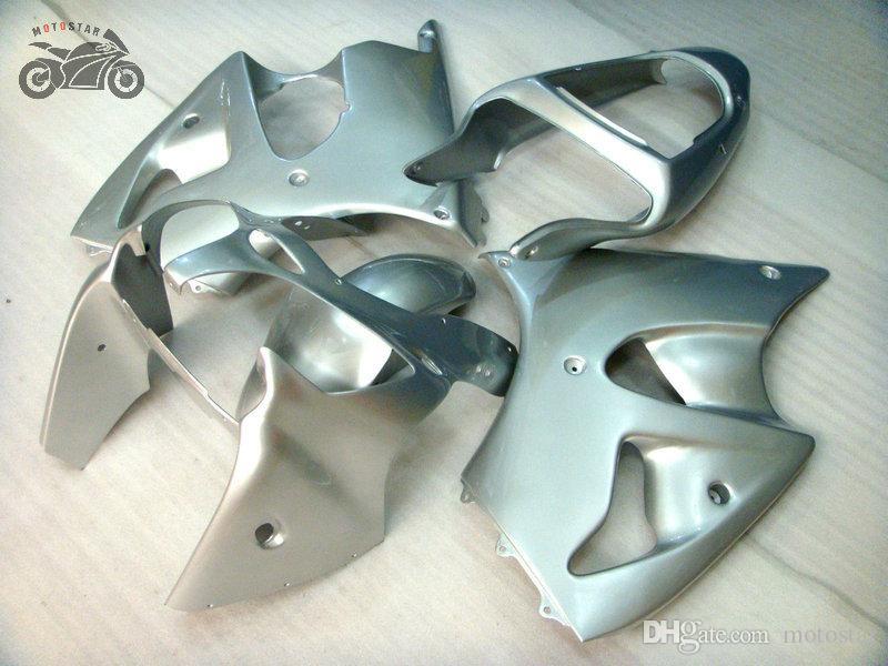 Injection Chinese Fairings per Kawasaki Ninja ZX6R 636 2000 2001 2002 Kit di carenatura in argento ZX-6R 00 01 02 ZX 6R