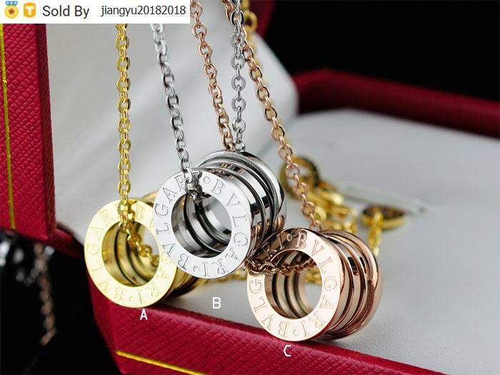 Christmas Gift High Quality diamond necklace Silverware Metal ceramics Pendant necklace Gold Jewelry With Box