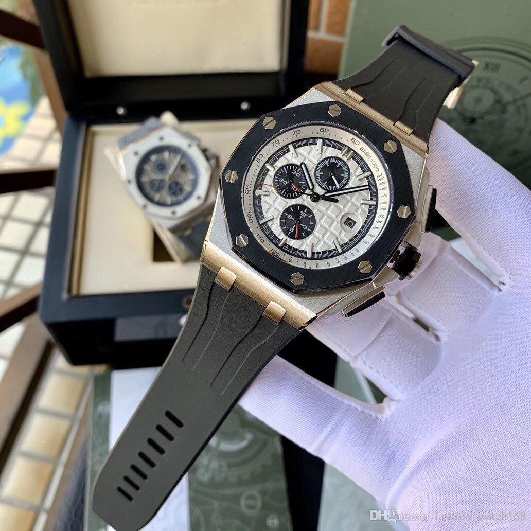Guarda il Royal Oak degli uomini di lusso orologi realizzati orologio da polso impermeabile Sapphire 3126 meccanico automatico di alta qualità