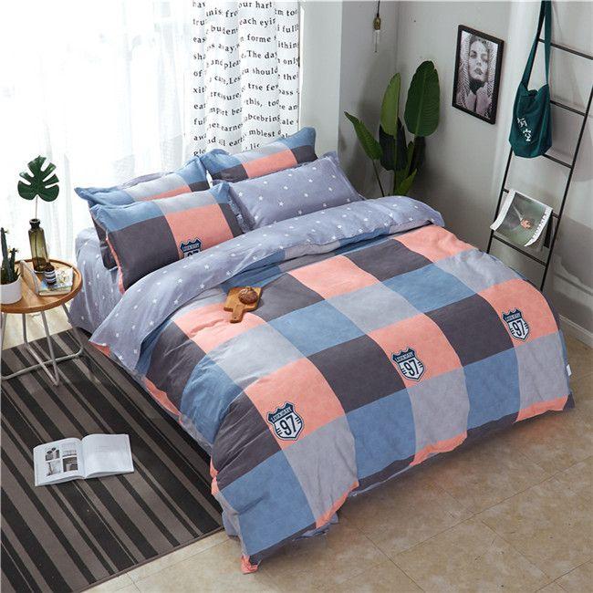 Jacquard Twill Quilt Cover lenzuola o un'immagine Imposta puro cotone twill quattro pezzi copripiumino Imposta Bedding Supplies 1.2M 2.2M