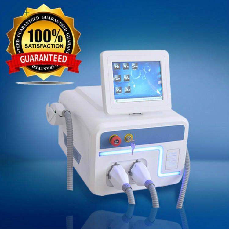Duplo IPL SHR máquina de duas alças IPL depilação a laser máquina 808nm / 755nm com frete grátis