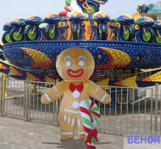 New Gingersnap Maskottchen-Kostüm Erstklassig deluxe Zeichentrickfigur Kostüme Gingersnap Maskottchenklage Abendkleid Partei Karneval freies Verschiffen