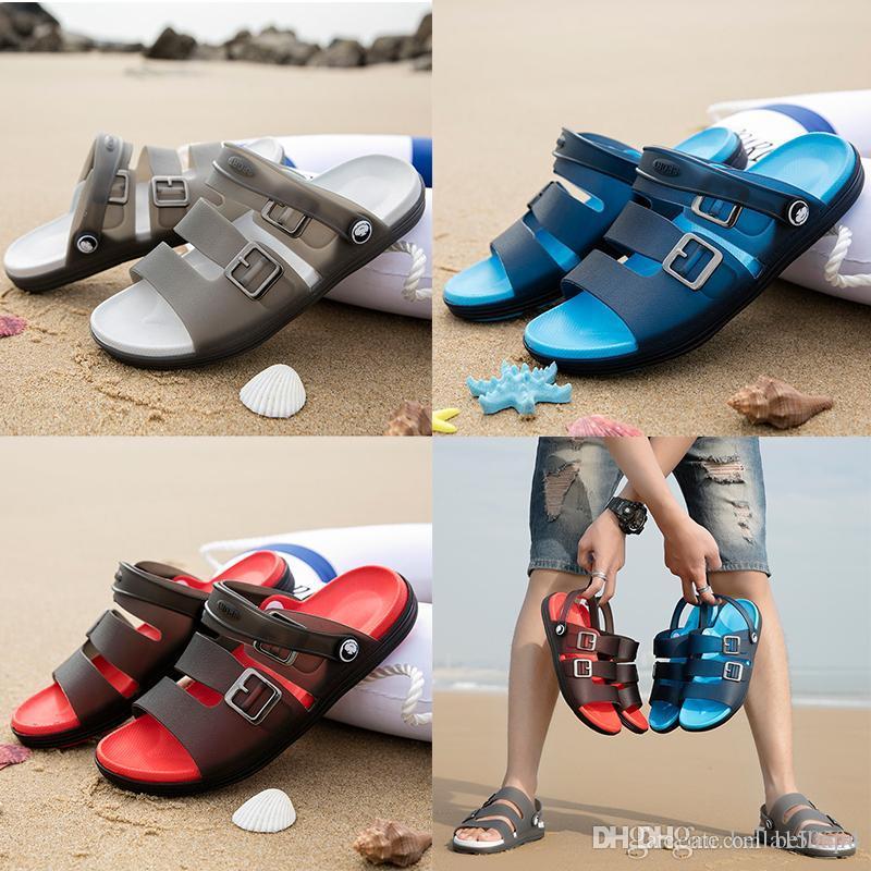 Designer Sandalen beiläufige Gelee rutschfesten Männer Sommer huaraches Pantoffeln Flip-Flops Palmenhausschuhe Outdoor-Beach-Sandalen size40-45