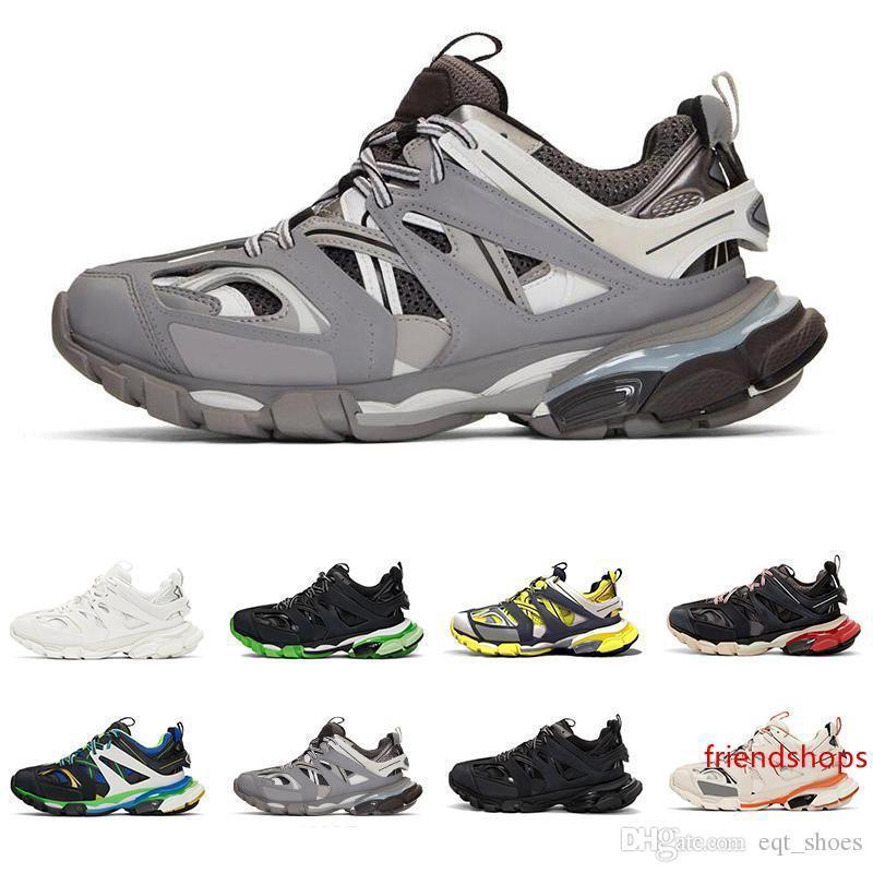 Nueva pista 3.0 para mujer para hombre de lujo de diseño zapatillas de deporte 2019 18SS jogging Triple S de alta calidad superior de los zapatos de moda casual Operando entrenadores deportivos
