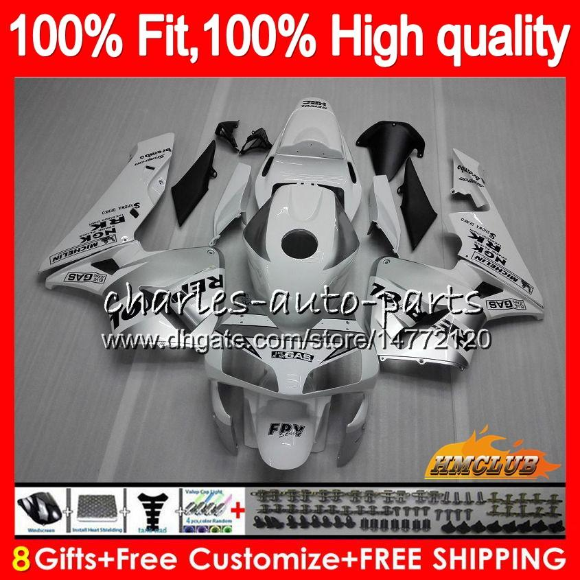 Injection OEM pour Honda CBRR 600RRRR 600F5 CBR600F5 CBR600 RR 03 81HC.6 CBR600RR CBR 600 RR F5 03 04 2003 2004 100% FIT CAYER REPSOL Silver
