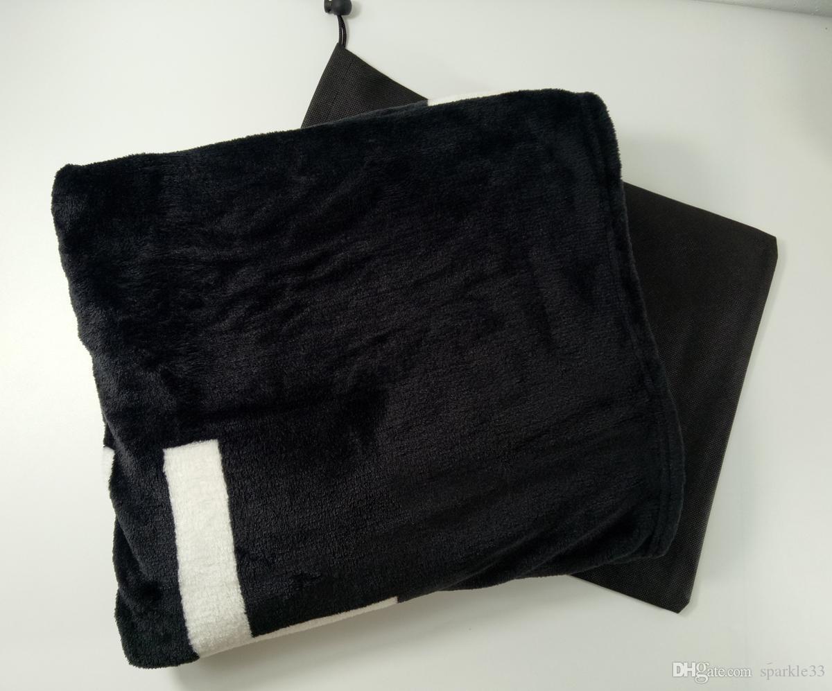 saco de pó de espessamento preto marca Cobertor 150x200cm cama 130150 centímetros a impressão padrão cadeia de transporte e sinalização quente cobertor xale