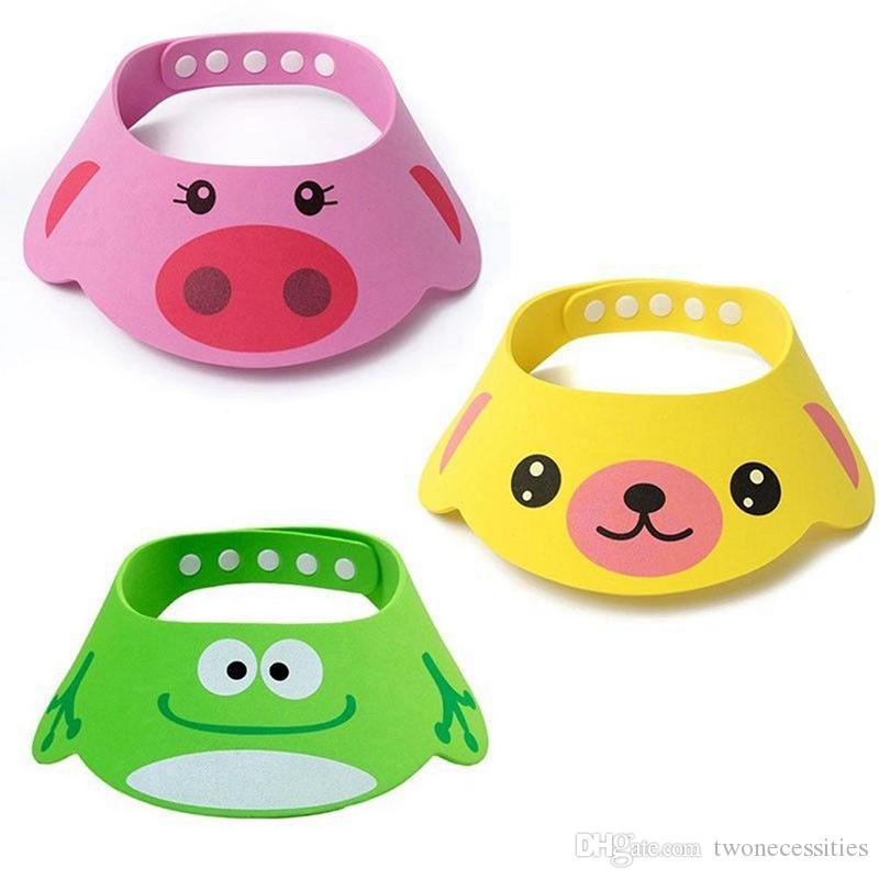 New Kids Bath Visor Hat,Adjustable Baby Shower Cap Protect Shampoo, Hair Wash Shield for Children Infant Waterproof Cap