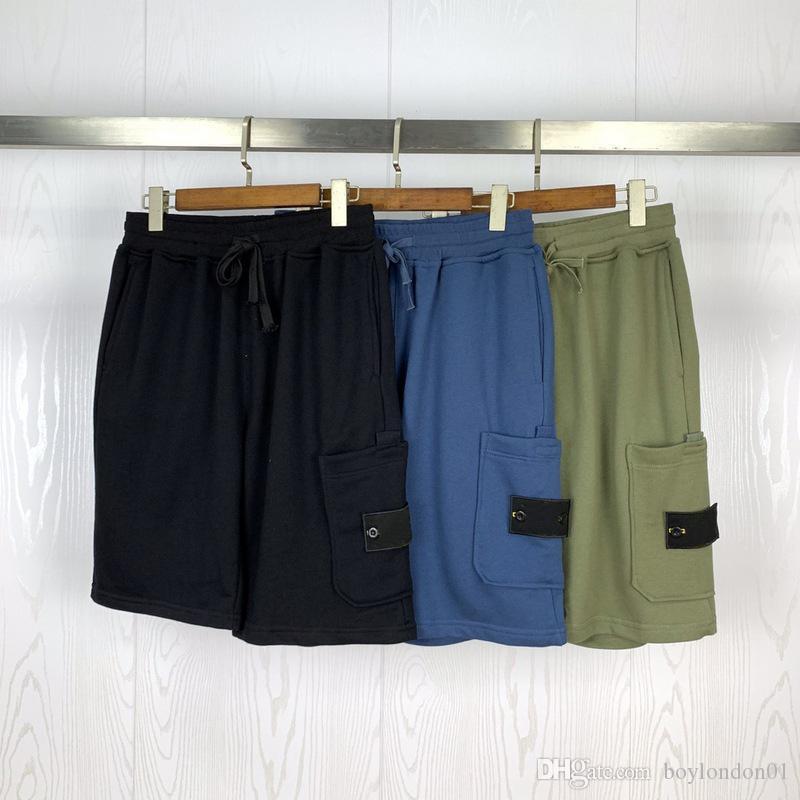 20SS Hommes Styliste Short High Street Pantalon taille élastique avec cordon de serrage extérieur Sport Fitness Pantalon court Casual Shorts respirante M-2XL