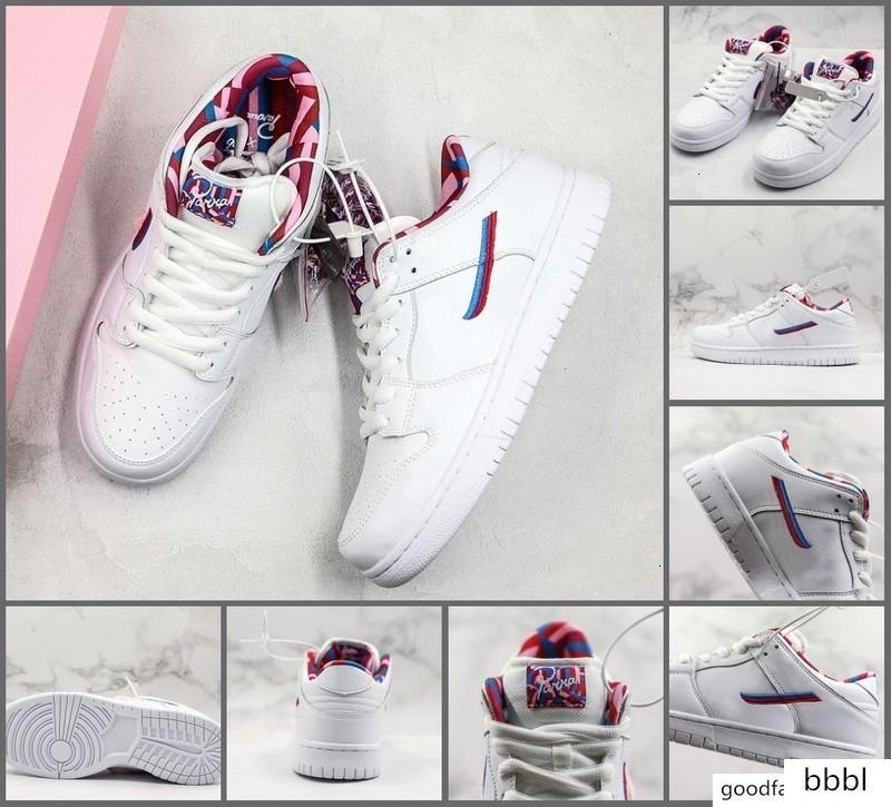 Parra SB Dunk Skate Sapatos 2019 Pink White Mens Furry Mulheres Desportos Designer Casual Tamanho Sneakers Top Quality 36-45