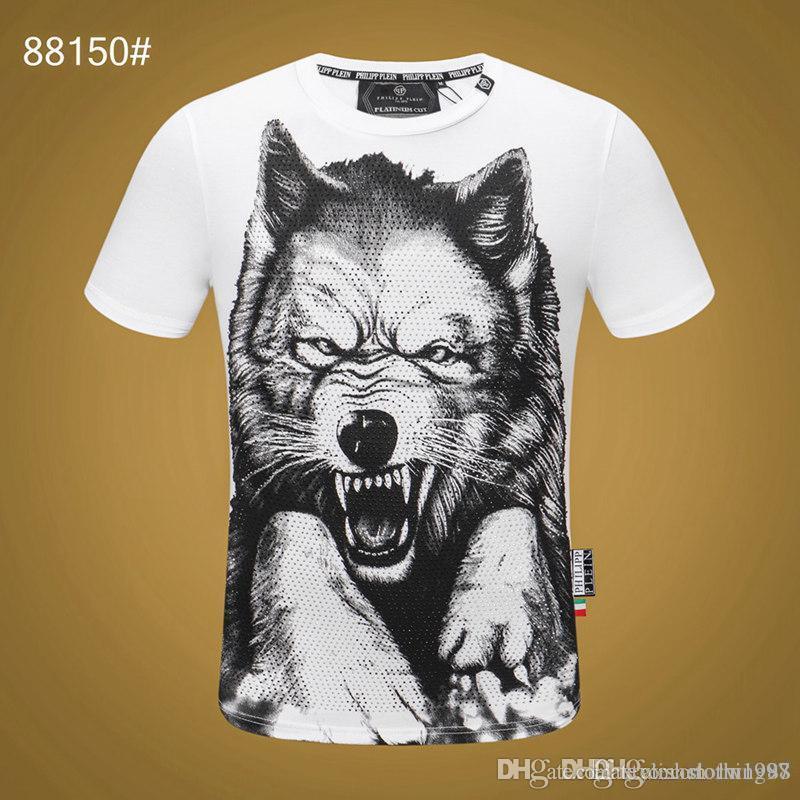 Männer Sommer-T-Shirt Designer heiße Art und Weise kurze Ärmel Schädel T-Shirt Kleidung Freizeithemd der neuen Männer-T-Shirt Kleidung Y213y5L213