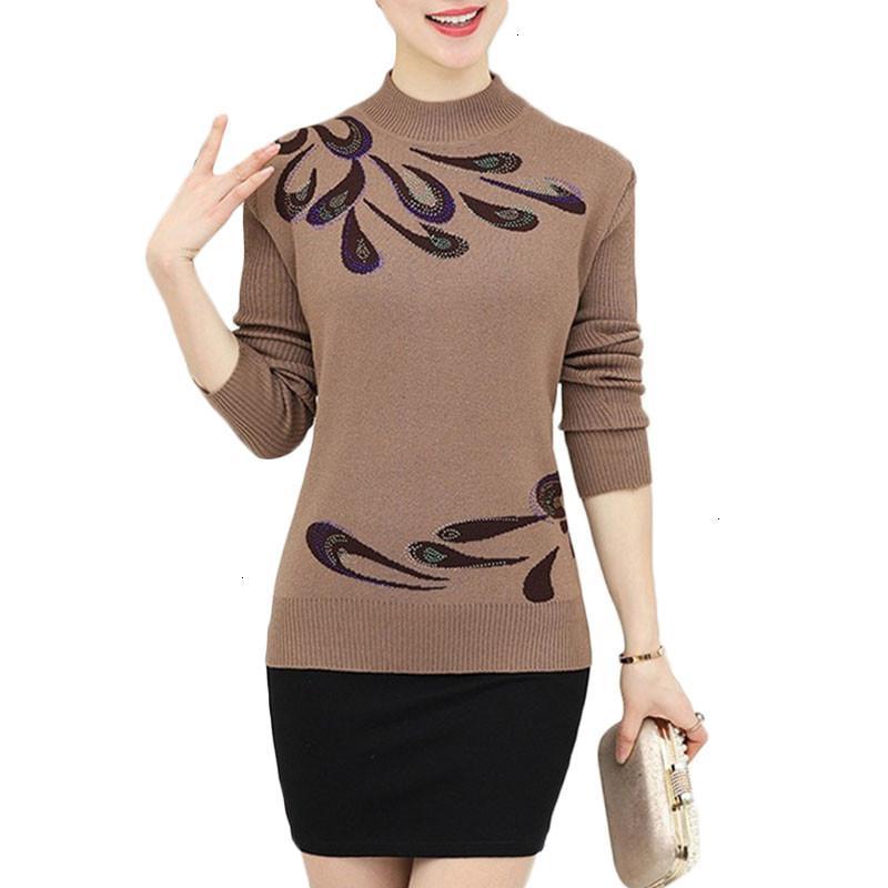 Для женщин дизайнер Свитера Дизайнер свитер пуловер Осень Зима Теплый свитер женщин Цветочная Печатный Wool Женский Плюс Размер Вязание A681