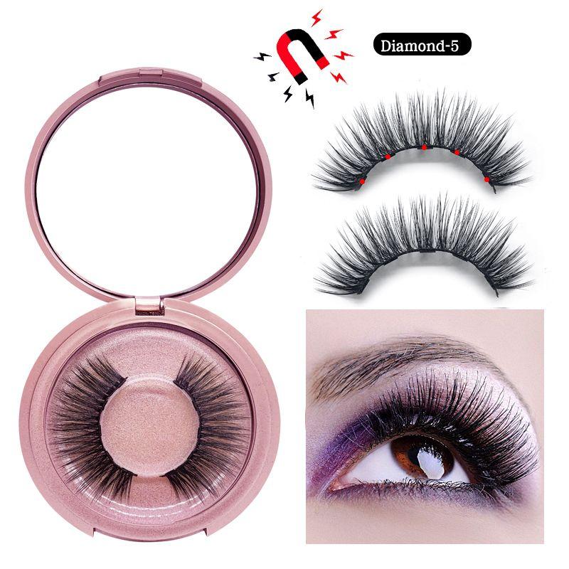 3D Mink Magnetic Eyelash False Eyelash Extension Waterproof Mink Lashes Makeup Maquiagem Eyelashes Magnetic Liquid Eyeliner