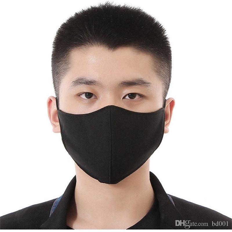 Frete grátis Anti PM2.5 Mouth máscara máscaras preto Dustproof cobrir o rosto reutilizáveis Proteger Haze Respiradores Moda 2 5AS E1