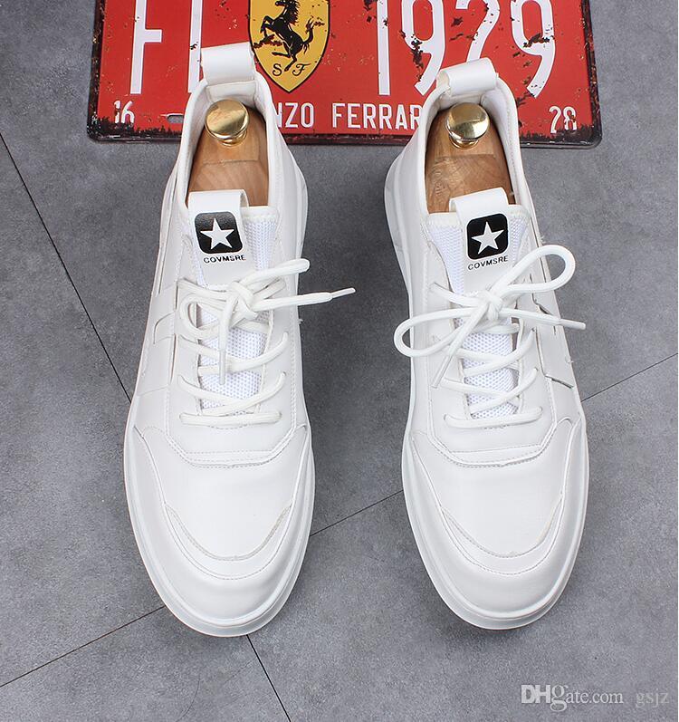2019 Nuovo stile di lusso degli uomini del progettista scarpe casual economici migliori di alta qualità Mens moda Sneakers festa da sposa scarpe sportive sneakers Z174