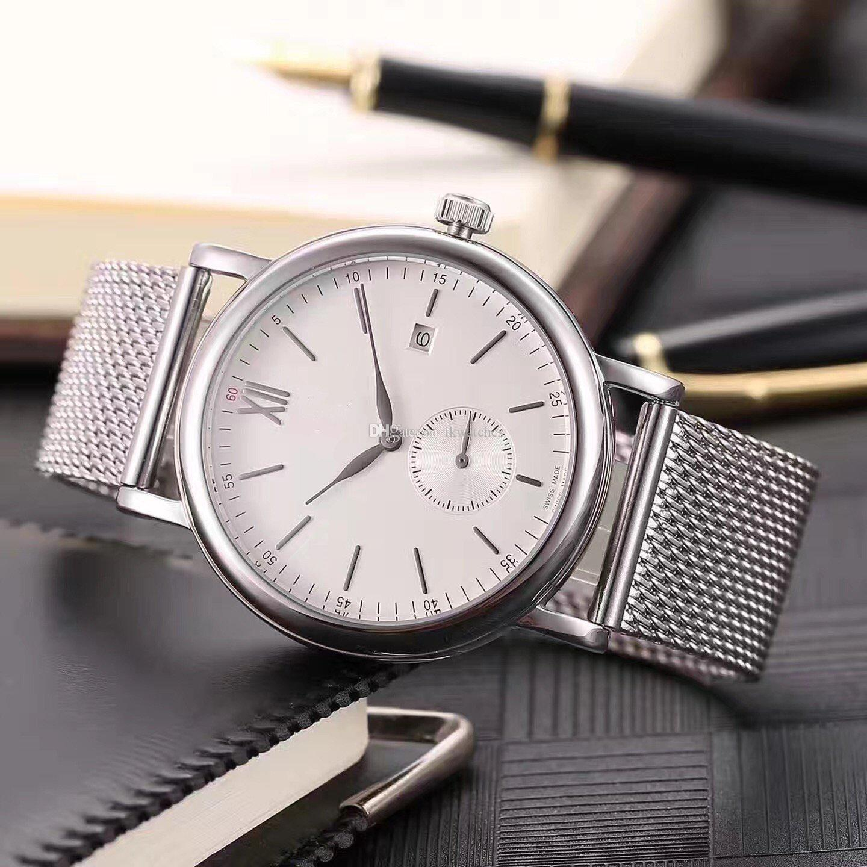 Luxusuhr Hochwertige Mannuhr Geschäftsuhr mechanische automatische Uhren für Mann Stahlband Armbanduhr schwarzes Zifferblatt 046