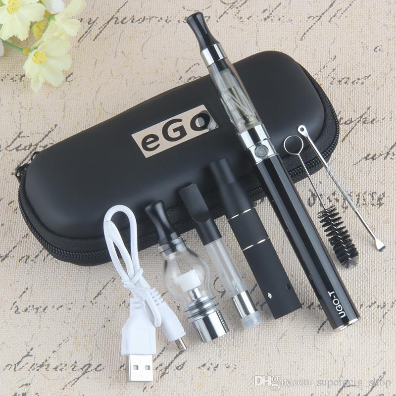 Autêntico UGO T 4 EM 1 Vape Caneta Kit 650 900 1100 mAh Bateria com atomizador CE3 MT3 atomizador erva seca vape cigarro elétrico