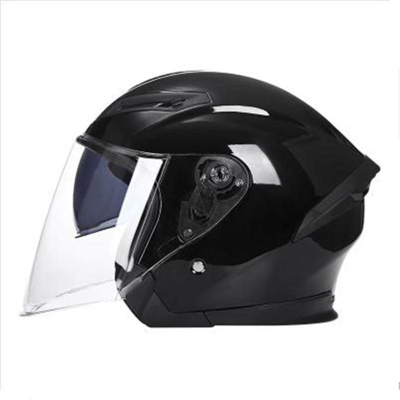 1PC Motorcycle Helmets Electric Bicycle Helmet Open Face Dual Lens Visors Men Women Summer Scooter Motorbike Moto Bike Helmet
