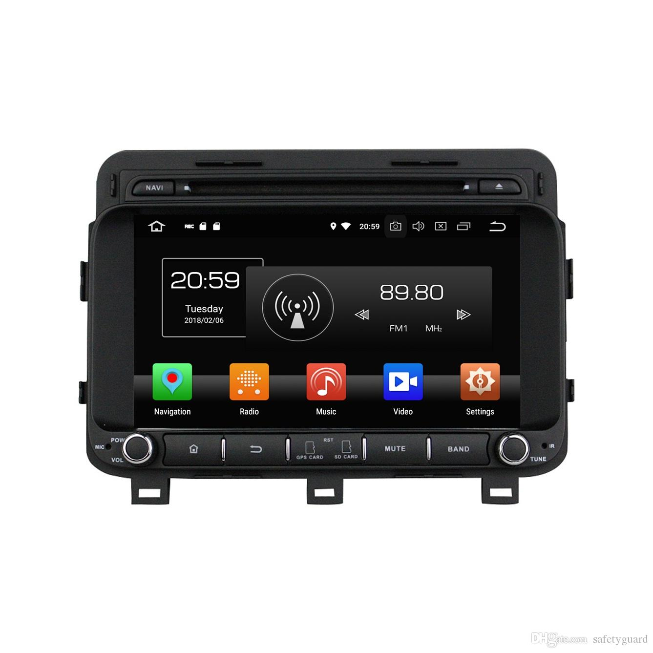 4GB RAM Octa Core 2 din 8 Android 8.0 Car dvd Player لكيا K5 Optima 2014 2015 RDS راديو GPS WIFI بلوتوث USB DVR مرآة رابط