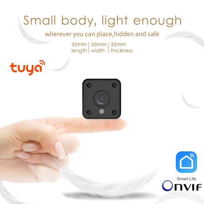 الكتابة على الجدران الذكية كاميرا تويا WIFI بطارية الكاميرا الرئيسية HD كاميرا مراقبة لاسلكية صغيرة WIFI 720P IP كاميرا سحابة التخزين