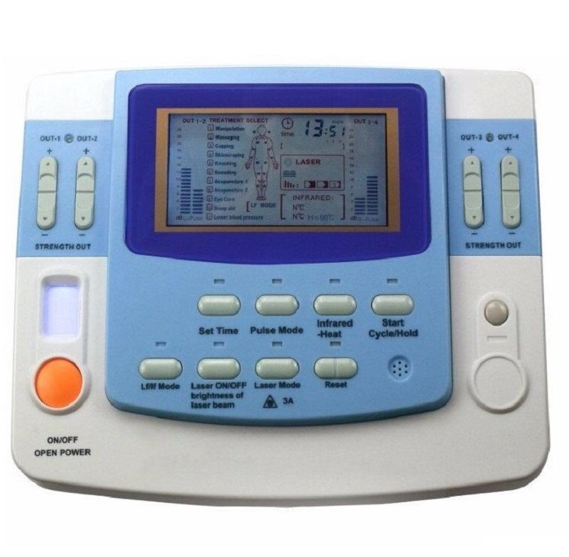 التردد المنخفض 9 قناة العلاج الطبيعي متعدد الموجات فوق الصوتية آلة عشرات نظم الإدارة البيئية مع الليزر، والتدفئة، كوب ه EA-F29