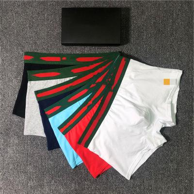 Fashion Mens Designer Boxers with Letter G Printed New Men Brand Underwear with Box Casual C0py Underpants 6 Colors Size M-2XL YF204155