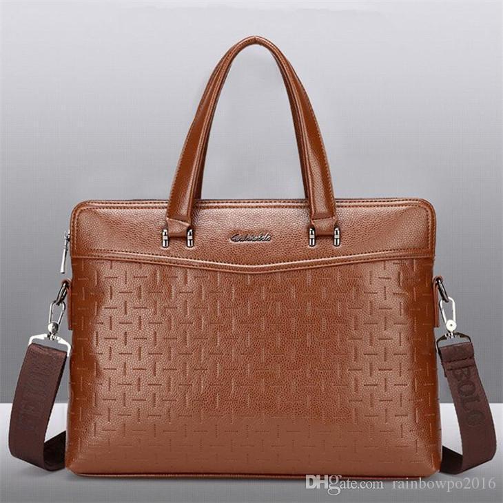 Factory wholesale men handbag new diamond leather business handbags Joker cross stone leather fashion briefcase men messenger bag