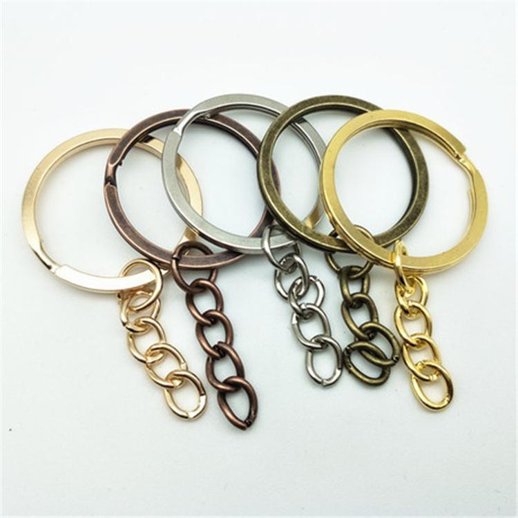 Jewelry Accessories100 pcs/lot Key Chain Key Ring Bronze Rhodium Gold Color Round Split Keyrings Keychain Jewelry Making HN27