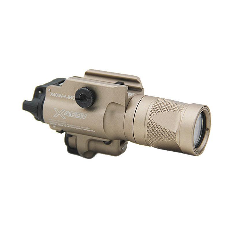 Tactical Compact X400 LED-Pistole-Gewehr-Gewehr-Licht X400V Weißlicht-Helligkeit Mit rotem Punkt-Laser