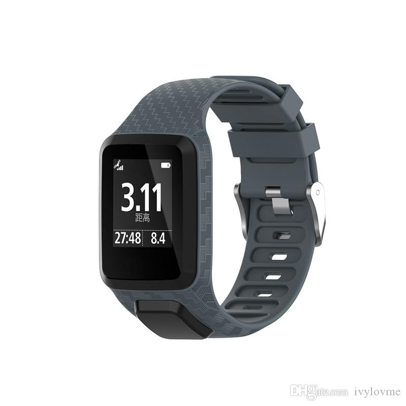 Silikon FürTomTom Runner 2/&3//Golfer 2//Spark3 Armband Uhrenarmband Uhr Strap DHL
